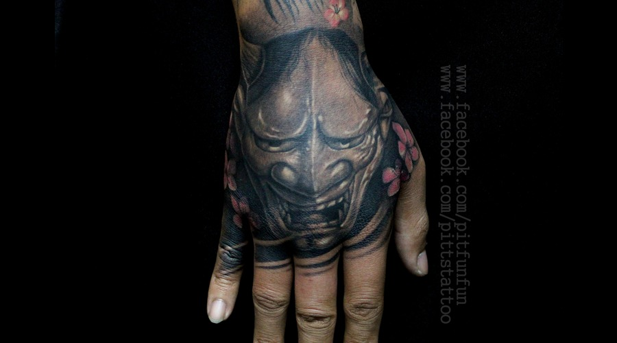 Hannya   Hand Tattoo   Japanese Tattoo Forearm