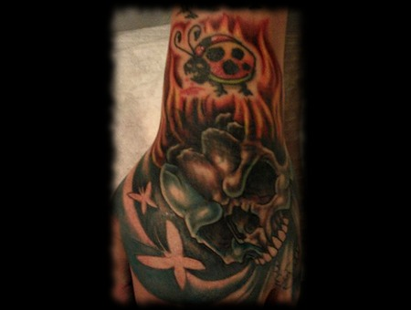Cover Up  Skull  Fire