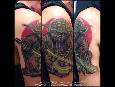 Yoda  Star Wars  The Force  3d  Realism Shoulder