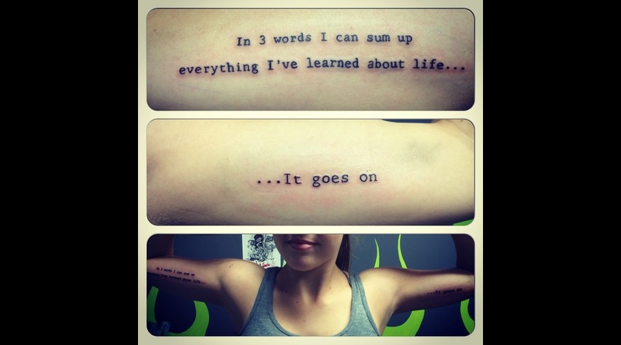 Quote  Inspirational  Inner Arm Arm