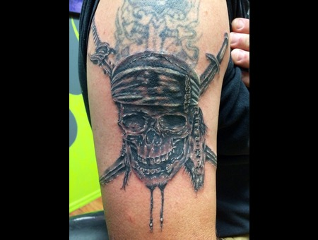 Cover Up  Pirate  Skull  Realism  Arm Arm
