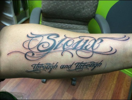 Sioux  Quote  Lettering  Arm  Forearm Forearm