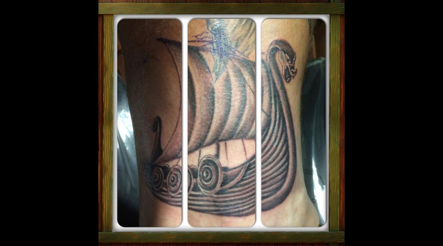 Viking  War  Ship  Realism  Ankle Lower Leg