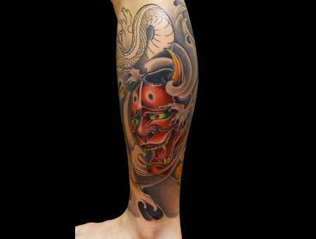 Hannya Mask Lower Leg