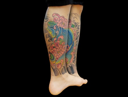 Koi&Chrysanthemum  Lower Leg