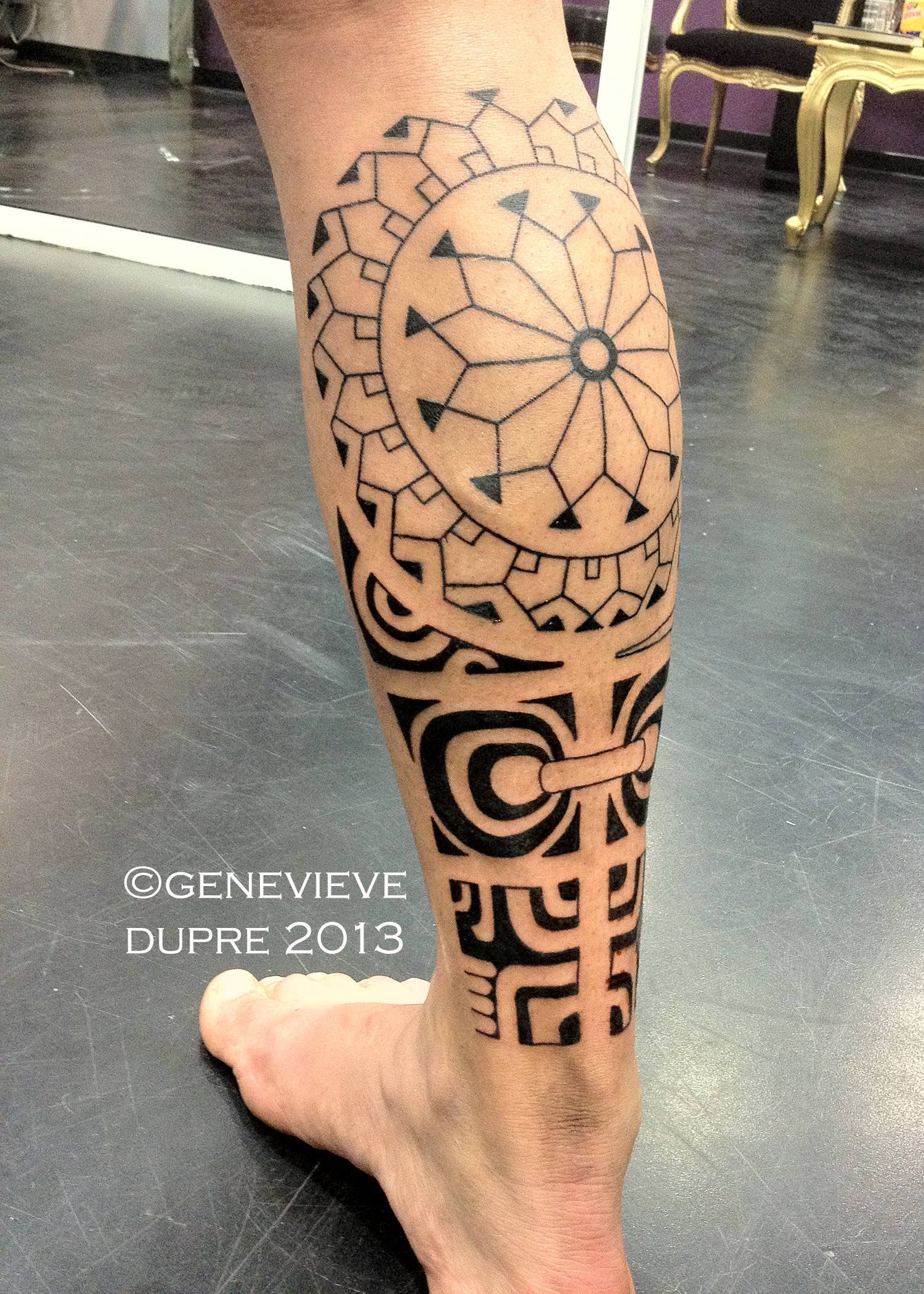 Genevieve dupre certified artist for Best polynesian tattoo artist