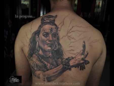 Shiva Back Piece..In Progress Back