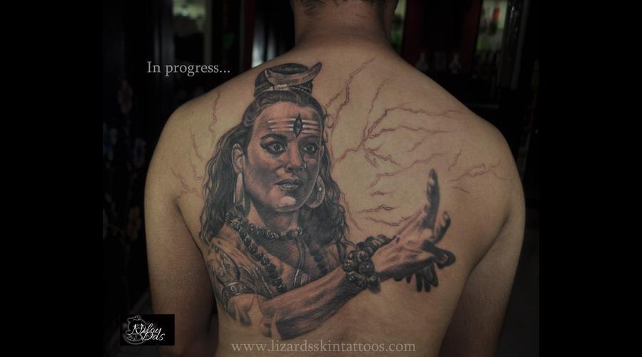 Shiva Back Piece..In Progress Back
