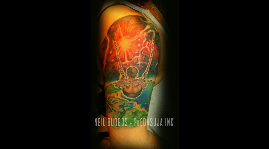 Angel  Swing  Luxury Irons  Neil Burgos Tattoo Arm