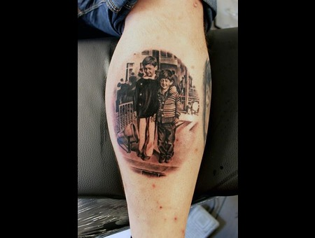 Black Gray Realism Old Photo Lower Leg