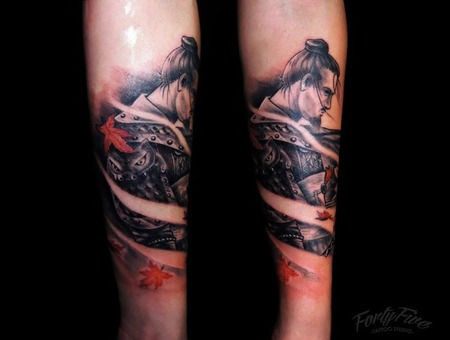 Arm Samurai Tattoo Arm