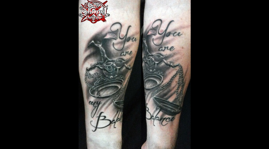 Libra  Realistic Black & Gray Arm
