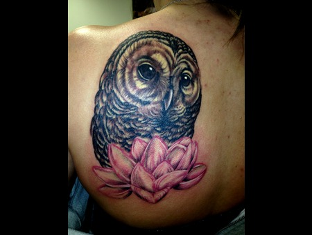 Owl  Flower  Realism Back