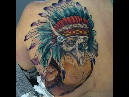 Owl Skull Back