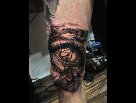 Eye Surreal Dark Rocks Vamp Thigh