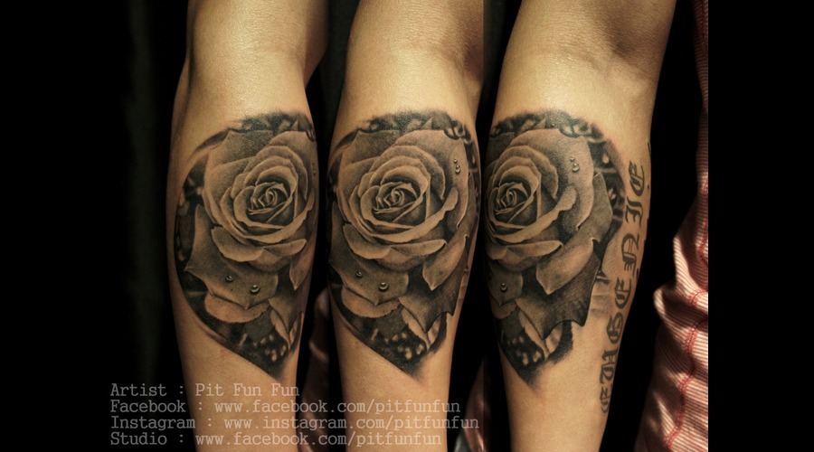 Rose Realistic Rose Rose Tattoo Arm