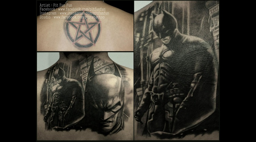 Cover Up   Batman Tattoo  Back