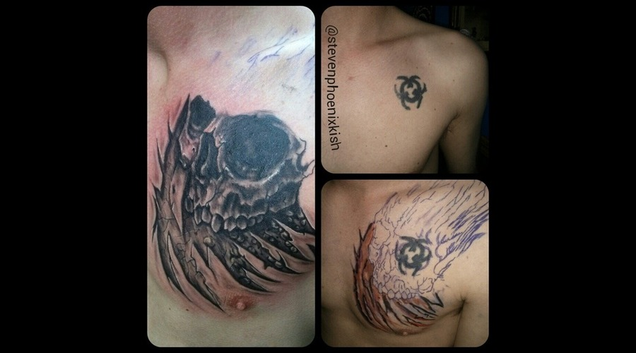 Skull  Cover Up  Chest