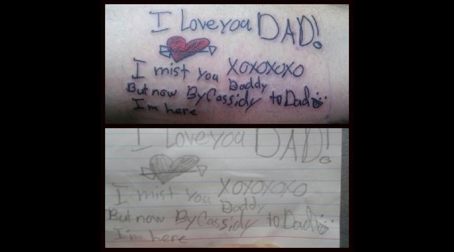 Hand Written Lettering  Love Note  Forearm