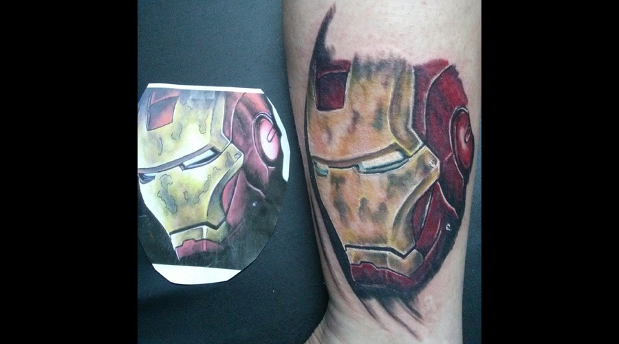 Iron Man  Marvel Comics Lower Leg