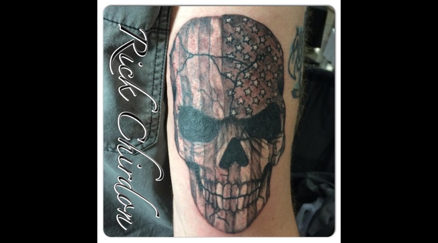 Skull  Flag   Arm
