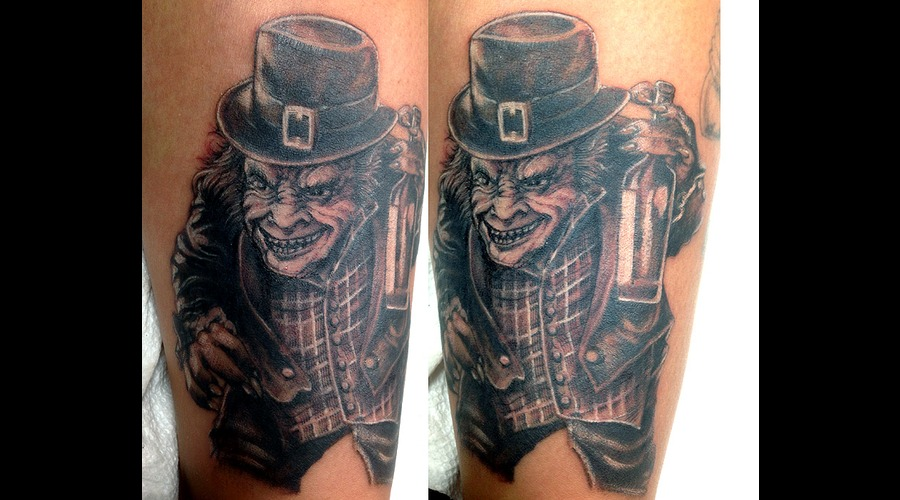 The Leprechaun Black Grey Lower Leg