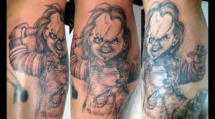 Chucky Black Grey Lower Leg