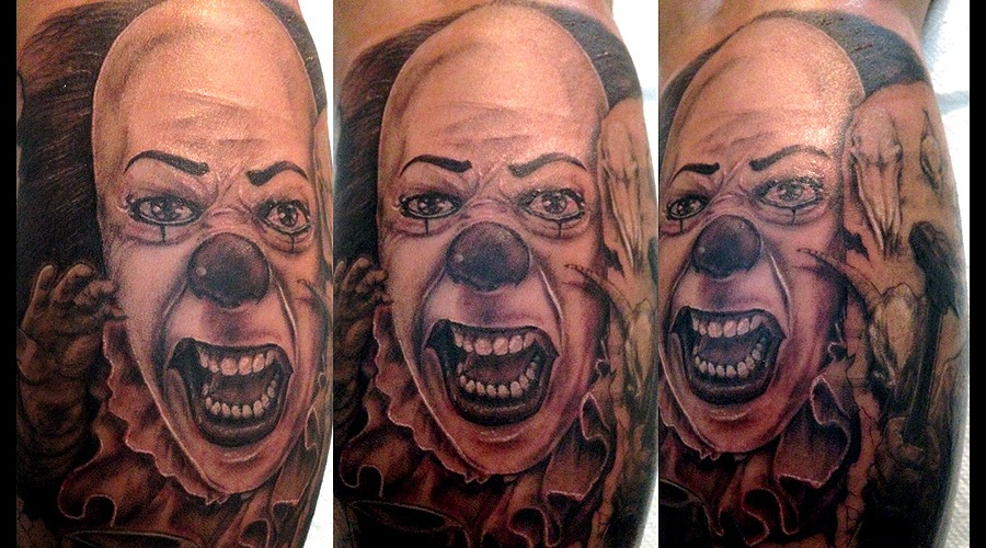 Pennywise Black Grey Lower Leg