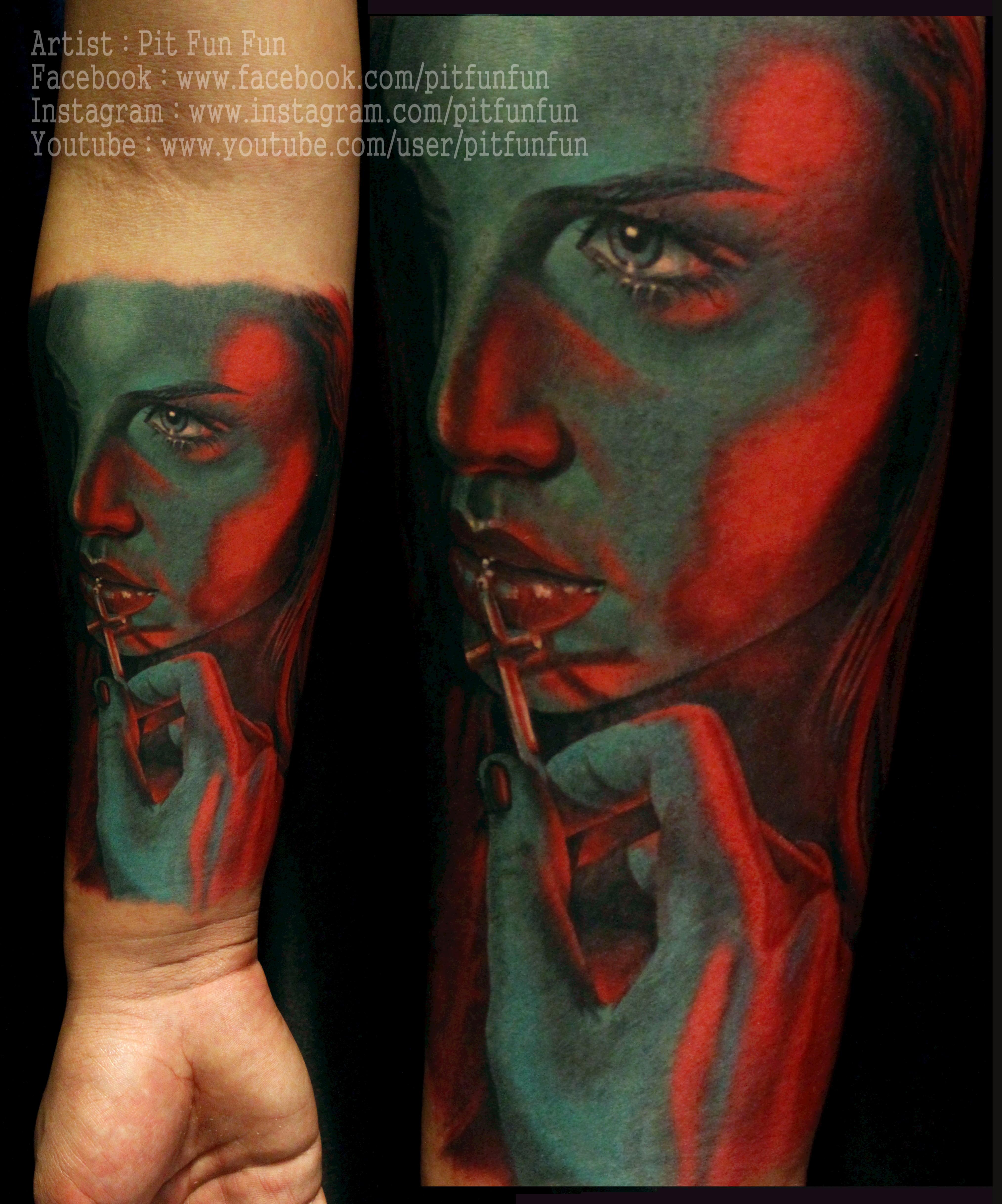 Color art facebook - Color Portrait By Www Facebook Com Pitfunfun Forearm
