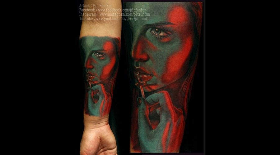 Color Portrait By Www.Facebook.Com/Pitfunfun Forearm