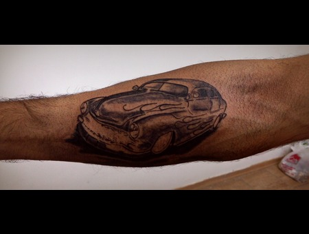 Rat Road Hot Road Car Forearm