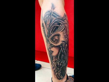 Girl   Mask Lower Leg