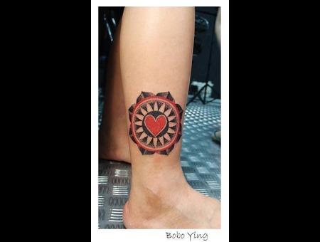 Dotworks   Dot Tattoo Lower Leg