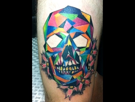 Geometric   Skull  Color Lower Leg