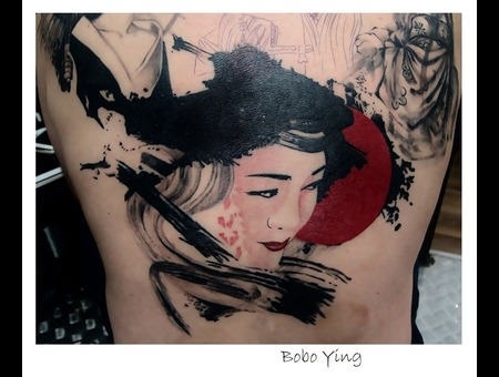 Geisha   Geisha Girl Back