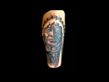 Native American  Indian   Lower Leg