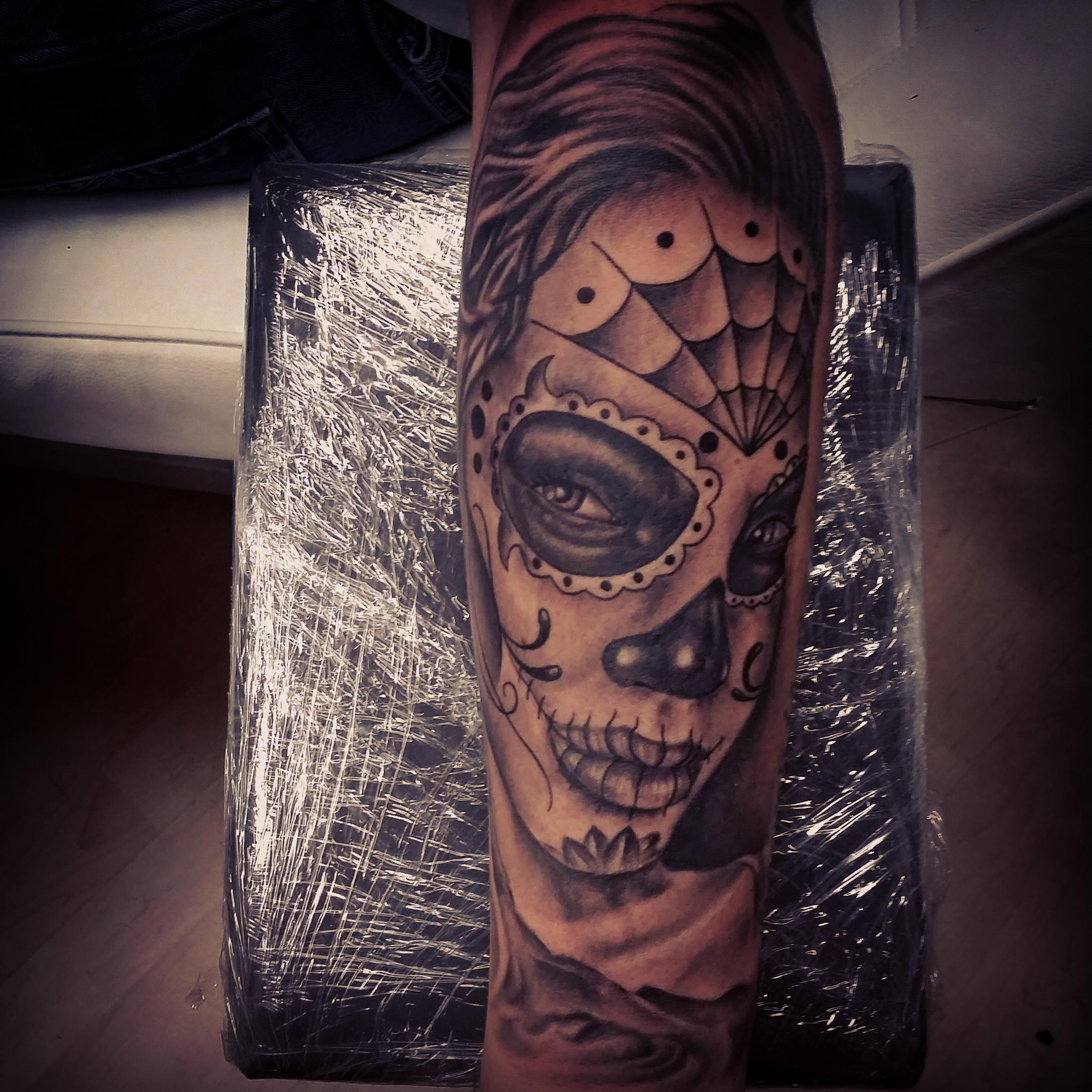 Calavera Tattoo Flash david pereira - certified artist
