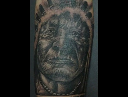 Black&Grey.Preto.Branco.Tattoo.Arm.Realistic.Portrait Forearm