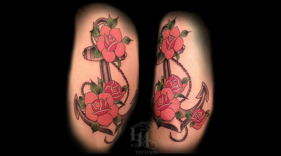 Rose  Roses  Anchor  Thigh