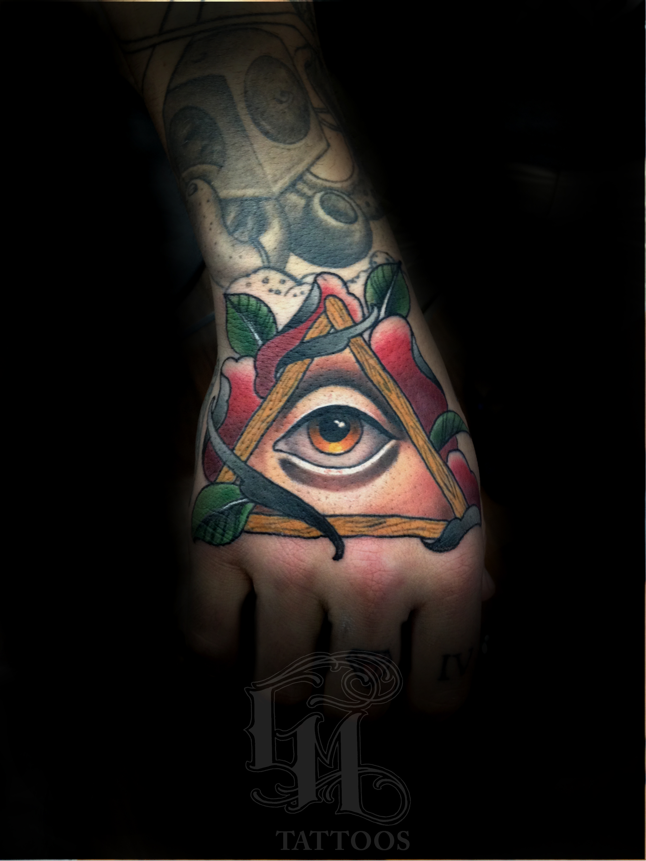 Graham mowers certified artist for Eye tattoo art