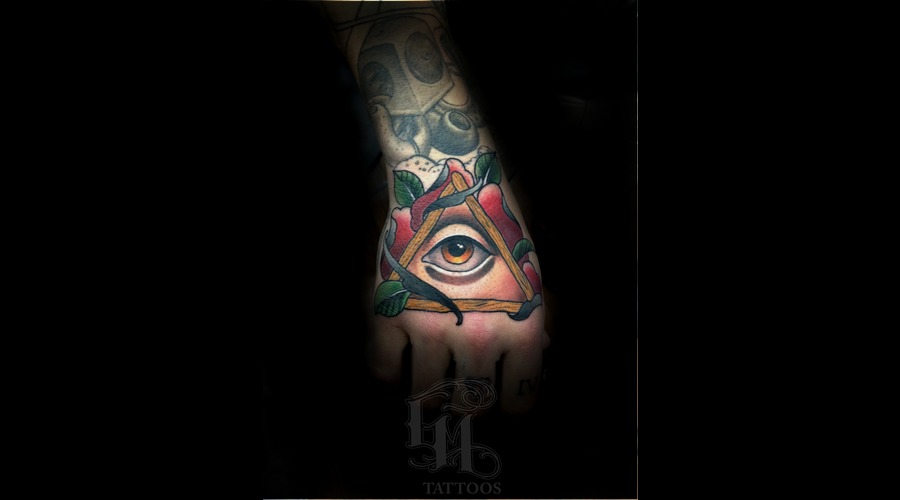 Hand  All Seeing Eye  Rose  Roses Arm