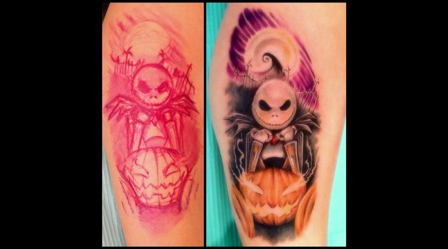 Jack Skellington  Nightmare Before Christmas Lower Leg