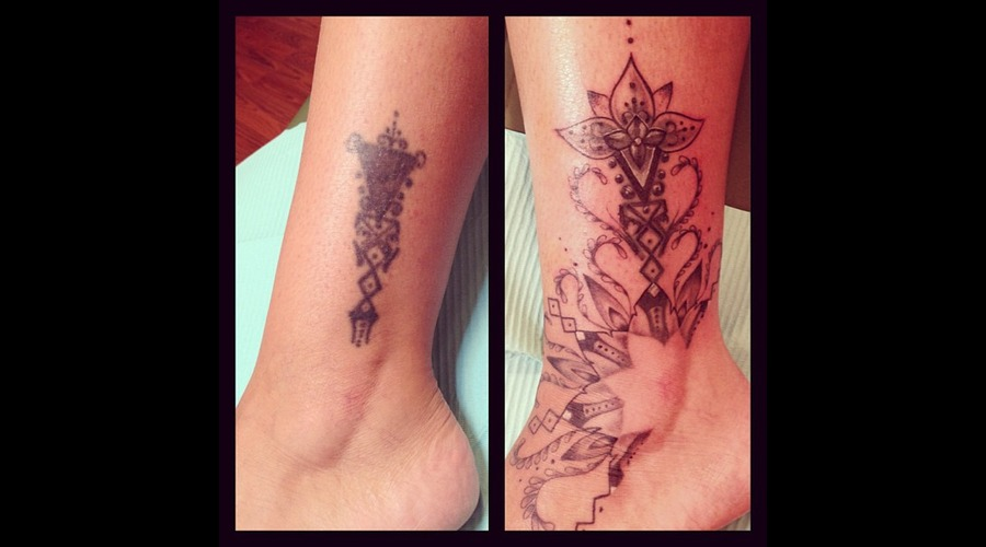 Tribal  Freehand  Coverup Lower Leg