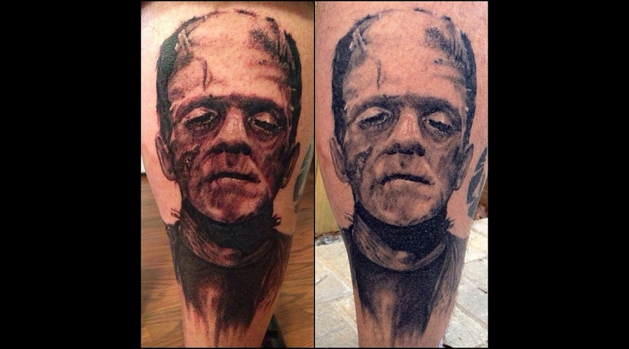 Frankenstein  Fresh  Healed Lower Leg