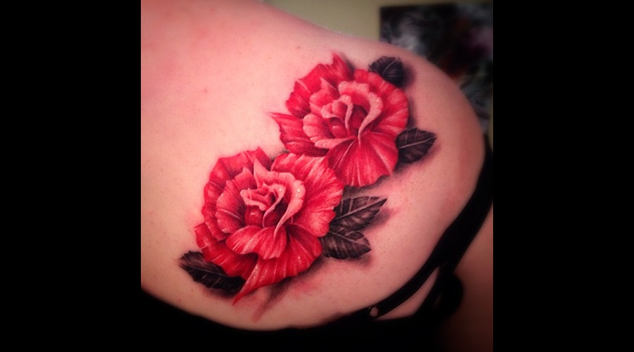 Roses  Freehand Shoulder