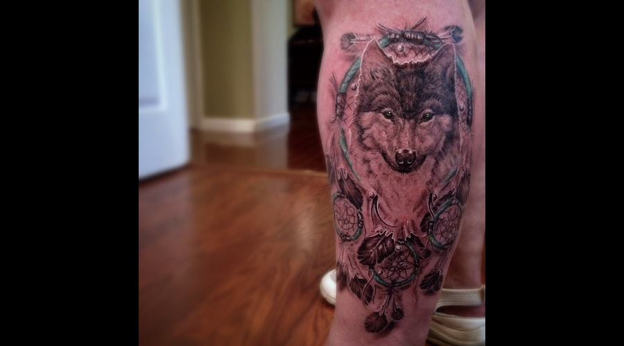 Wolf  Dreamcatcher Lower Leg
