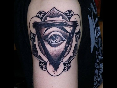 Illuminati  All Seeing Eye  Eye  Dotwork Shoulder