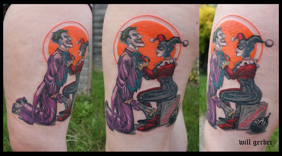 Harlequin  Joker  Batman  Comics Thigh