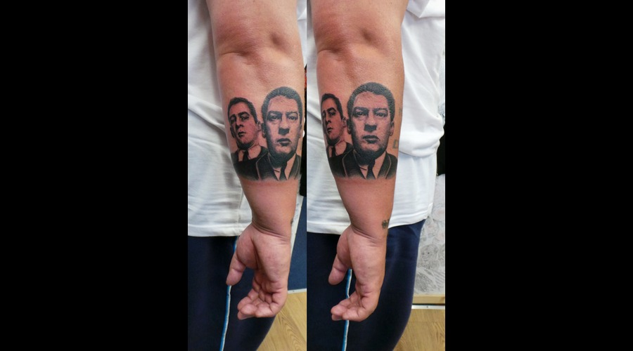Krays  Portrait  High Contrast Forearm