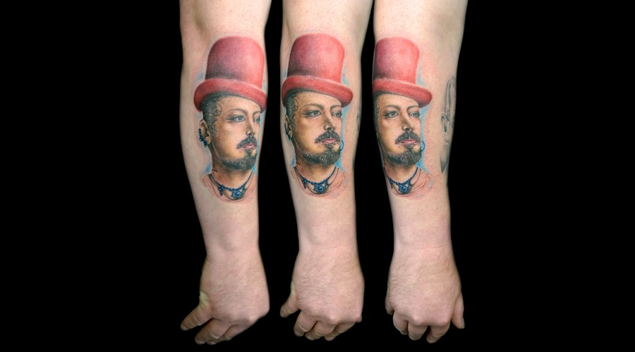 Colour  Portrait  Boy George  Realism Forearm